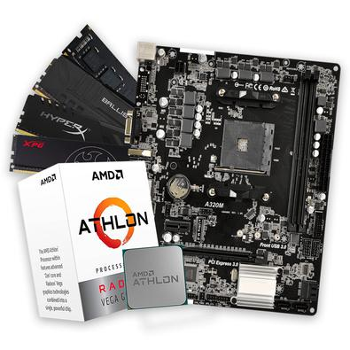 Kit Upgrade Processador AMD Athlon 3000G + Placa Mãe A320M* + Memória DDR4 8GB 2666MHzMelhore agora mesmo o seu PC com esse Kit Upgrade, combinado com