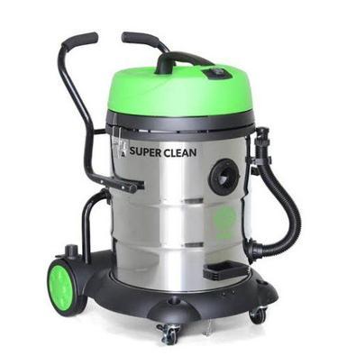 Aspirador de sólidos e líquidos possui tanque basculante de inox de 60L e mangueira descartável. Conta com grande capacidade, oferecendo alto desempen