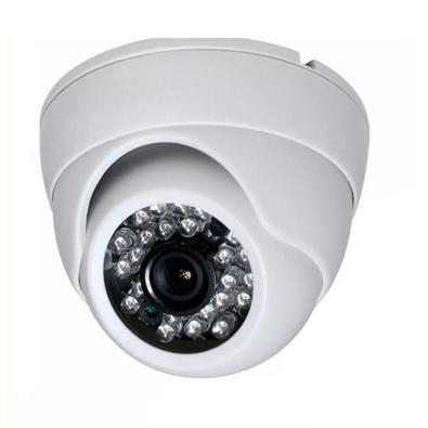 Câmera Dome Color Ccd Analógica Ir: 20m Multitoc Branca