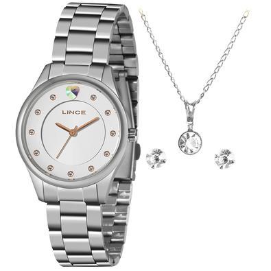 Relógio Lince Feminino Lrmh121l Kx33s2sx Prateado + Semijóia