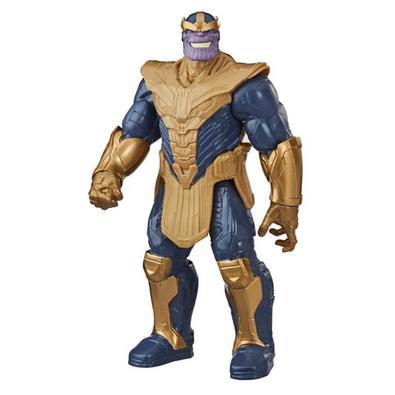 Diversão garantida com a Figura Articulada Thanos - Titan Heroes Series - Disney - Marvel - Vingadores - Hasbro! Thanos se junta às aventuras gigantes