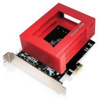 Placa PCI Express, Com 2 Portas Sata III - Raid, Suporta 2 SSD - Comtac 9197Com este adaptador você pode adicionar um SSD NVMe à sua placa-mãe sem slo