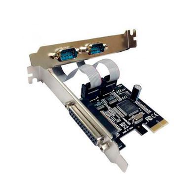 Placa PCI Express, Com 2 Portas Serial E 1 Paralela