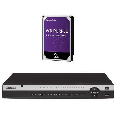 Kit contendo 1 peça NVR NVD 3116 + HD 2 TerasInteligência de vídeoO NVD 3116 realiza o gerenciamento do projeto através do processamento segmentado em