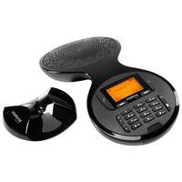 O TS 9160 oferece muito mais praticidade para qualquer reunião. Ele é um aparelho de audioconferência sem fio digital superfácil de usar, com design d