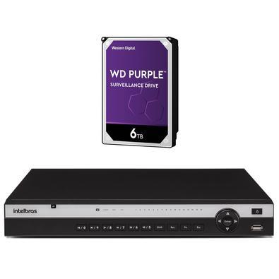 Kit contendo 1 peça NVR NVD 3116 P + HD 6 TerasInteligência de vídeoO NVD 3116 P realiza o gerenciamento do projeto através do processamento segmentad