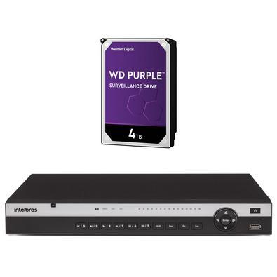 Kit contendo 1 peça NVR NVD 3116+ HD 4TerasInteligência de vídeoO NVD 3116 realiza ogerenciamento do projetoatravés do processamento segmentado em
