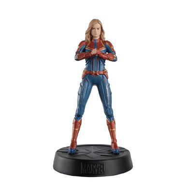 Ocupando o centro do palco, a Capitã Marvel está voando mais alto, mais longe e mais rápido do que nunca em nossa Coleção Marvel Movie. Carol Danvers