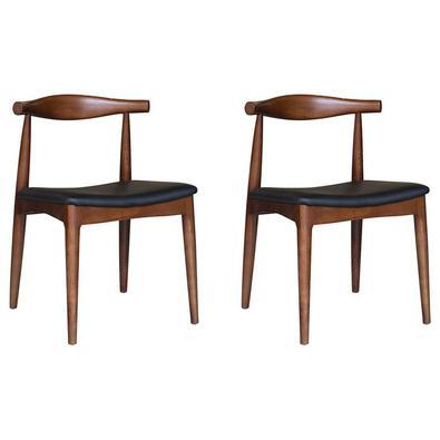 Descrição do Produto: Kit 2 Cadeiras Decorativas Sala e Escritório Nami Madeira Tabaco - Gran Belo inspirada no conceito escandinavo elegante e singel