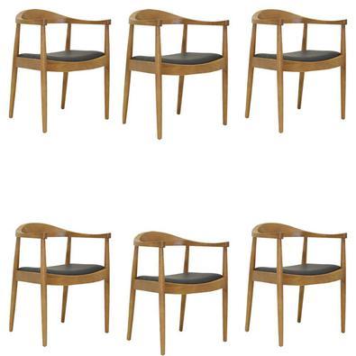 Descrição do Produto: Kit 6 Cadeiras Decorativas Sala e Escritório Colonial Madeira Bege - Gran Belo inspirada no conceito escandinavo traz classe e e