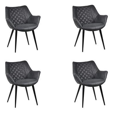 Descrição do Produto: Kit 4 Cadeiras Decorativas Sala e Escritório Mandalla PU Preta - Gran Belo ideal pra quem procura sofisticação e alta qualidade