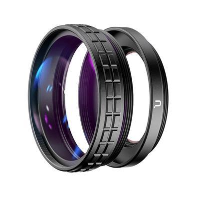 Este kit da Ulanzi é composto por uma lente grande angular de 18mm (wide angle) e uma lente macro 10x para a câmera Sony ZV-1. A lente grande angular