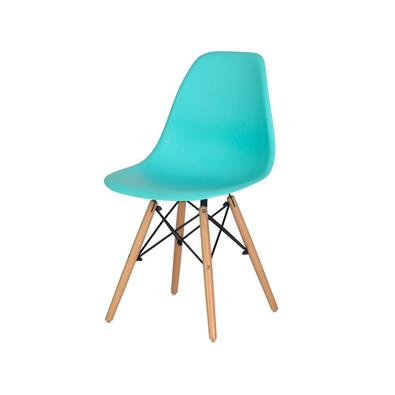 Cadeira Charles Eames Eiffel Tiffany Base Madeira Sala Cozinha Jantar