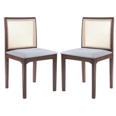 Kit 2 Cadeira Decorativa Sala de Jantar Steve Amêndoa - Gran Belo é um produto super diferenciado, pois possui tela em Rattan Sextano, proporcionando