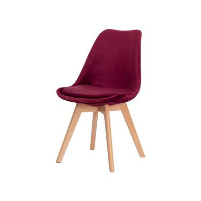 Cadeira Leda Saarinen Design Veludo  Sala Cozinha Jantar - Vinho