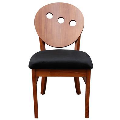 Cadeira Decorativa Sala de Jantar Teseu Madeira Maciça Poliéster Preto/Imbuia - Gran Belo é um produto desenvolvido pensado na relação custo benefício