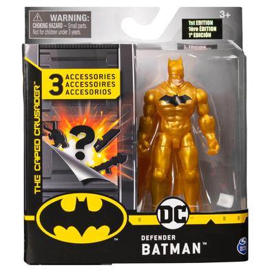 """Produto: BATMAN FIGURA 4´´ Dados do produto: Figura estilizada de 4"""" Batman com 11 pontos de articulação, 3 acessórios misteriosos, cartão de missão e"""