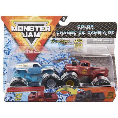 Monster Jam são carros de Roda-Livre como os do evento mais conhecido Monster Jam, brincadeira em grande proporção! No Double Down Showdown, você tem