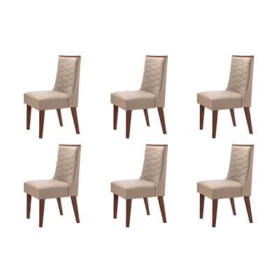 Complete sua sala de jantar com esse lindo Conjunto com 06 Cadeiras Safira . Conforto, elegância, deixara seu ambiente completo.