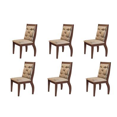 Complete sua sala de jantar com esse lindo Conjunto com 06 Cadeiras Lucy . Conforto, elegância, deixara seu ambiente completo.
