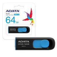O Pen Drive Adata 64GB  Usb 3.1, possui um design elegante com um conector USB deslizante, que se projeta suavemente a partir da unidade com o toque d