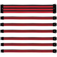 O kit de cabo de extensão sleeved oferece extensões de cabo ATX universais com mangas de cabo coloridas de alta qualidade. O kit fornece 7 peças para