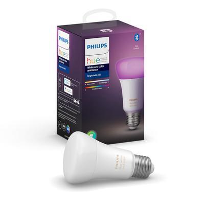 Lâmpada Inteligente Philips Hue 9W 220V WiFi e Bluetooth base E27    Adicione cor a qualquer ambiente com uma única lâmpada inteligente, que oferece l