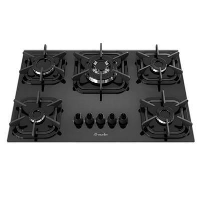 O novo Cooktop 5 bocas Tripla Chama Mueller oferece beleza, modernidade e segurança para sua cozinha. Vem com novas grades, de ferro fundido, com 6 po
