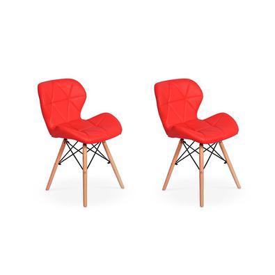 Cadeira Charles Eames Eiffel Slim Wood Estofada Esta cadeira vai dar um up na decoração do seu lar! Feitas em material de excelente qualidade, as Cade