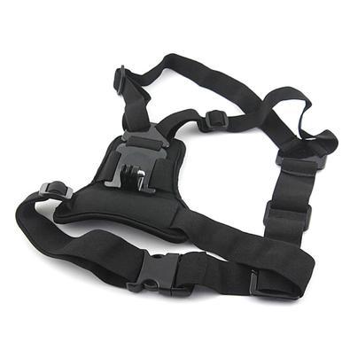 Este suporte peitoral para GoPro e câmeras similares tem um design acolchoado, fabricado com materiais respiráveis, que dão mais conforto no peito, al