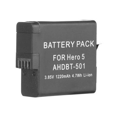 A bateria para GoPro Hero 5 Black, Hero 6 Black, Hero 7 Black, Hero 8 Black* e Hero 2018 da marca Shoot é uma bateria de íons de lítio com capacidade