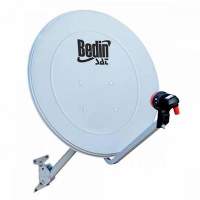 Antena de alto ganho para captação de sinais de TV por assinatura via satélite (Banda KU). Projetada e otimizada para maior rendimento, com todos os L