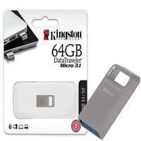 O DataTraveler Micro 3.1 é um pendrive ultrapequeno, sem tampa, leve e compatível com USB 3.2 Ger 1, mesmo para grandes arquivos como filmes em HD e á