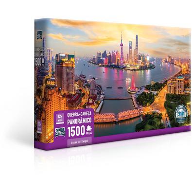 Quebra Cabeça 1500 Peças Luzes De Xangai