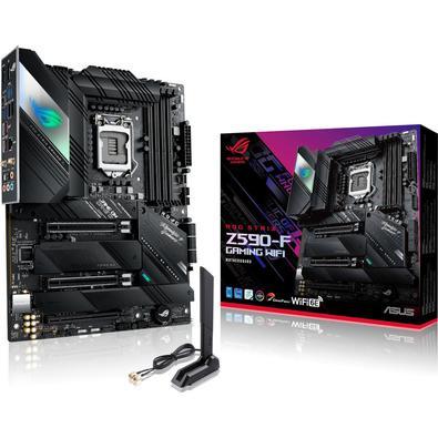 Placa Mãe Asus Para Intel 1200 Z590-F, Rog Strix Gaming, Wi-Fi - 4XDDR4 ATX