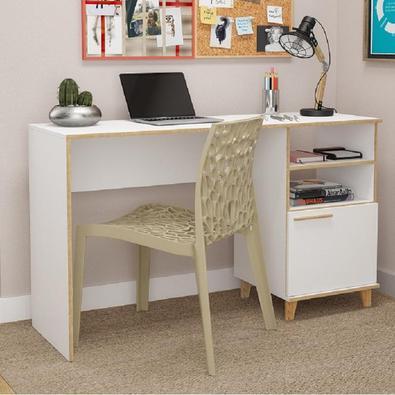 Mesa De Computador Escrivaninha Oslo Bc 67 - Branco/pinus