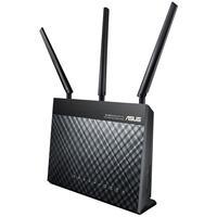 O ASUS RT-AC68U é o router Wi-Fi mais rápido do mundo com uma velocidade combinada de 1900 Mbps. Equipado por um processador dual-core, o RT-AC68U eli