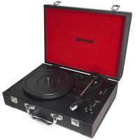 Vitrola Amvox Case em Couro USB 20W AVT1299 Preta - Bivolt. Conheça a mais nova Vitrola AVT 1299! Possui conecção via bluetooth, entrada AUX e USB, en