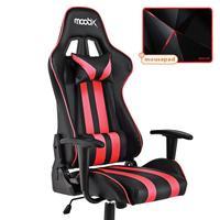Kit Mousepad Redragon + Cadeira Gamer Nitro MOOBX Preto e Vermelho O Kit ideal para você que busca por conforto, um design exclusivo e um setup que ir