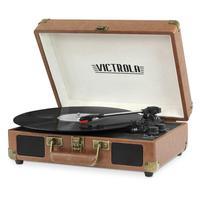 VITROLA VSC-550BT VICTROLA PORTÁ,TIL BLUETOOTH CASTANHO ,O toca discos portá,til Victrola é, um clá,ssico absoluto e carregado de recursos. Inclui tec