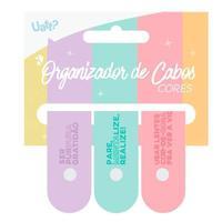 Organizador Cabos 3un - Cores